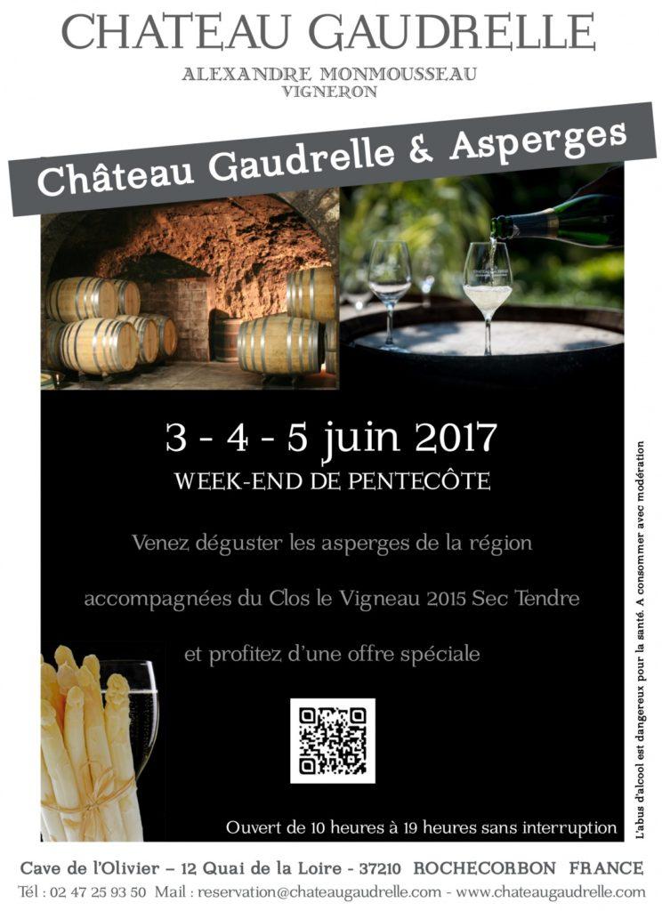 Affiche Château Gaudrelle et Asperges 2017